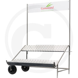 GRANIT Rolling lawnmower stand
