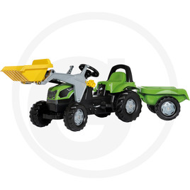 Rolly Toys Pedal tractor with Kid loader and Kid trailer