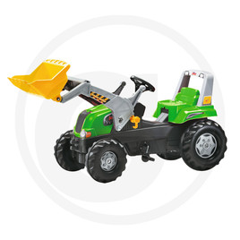 Rolly Toys Pedal tractor green, with Junior loader
