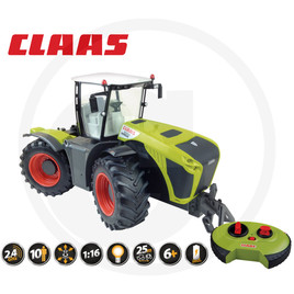 Tractor, remote controlled, 2.4 GHz, full steering and driving function, 5 km/h, steerable axles, cab can be rotated by 180°, 46 cm