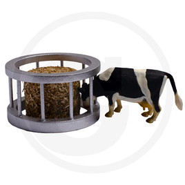 Kids Globe Feed ring with cow and round bales