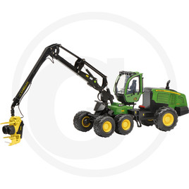 Schuco Harvester, 6 wheels, green, die-cast