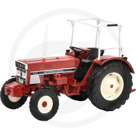Schuco Tractor with frame, red, die-cast