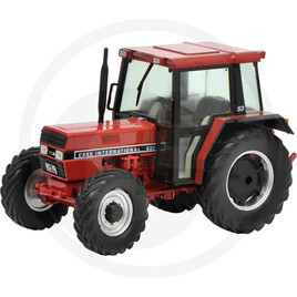 Schuco Tractor, red, die-cast