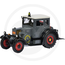 Schuco Tractor with enclosed cab, grey/white, limited edition, resin