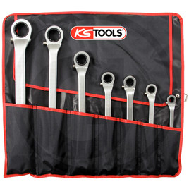 KS Tools CLASSIC ratchet ring spanner set, 7pcs