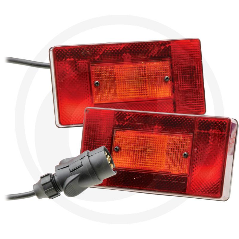 Magnetleuchte Rückleuchte Anhänger Leuchtensatz mit Magnethalter